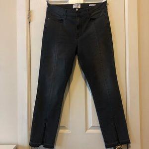 Frame Denim - High Rise Front Split Crop Jean